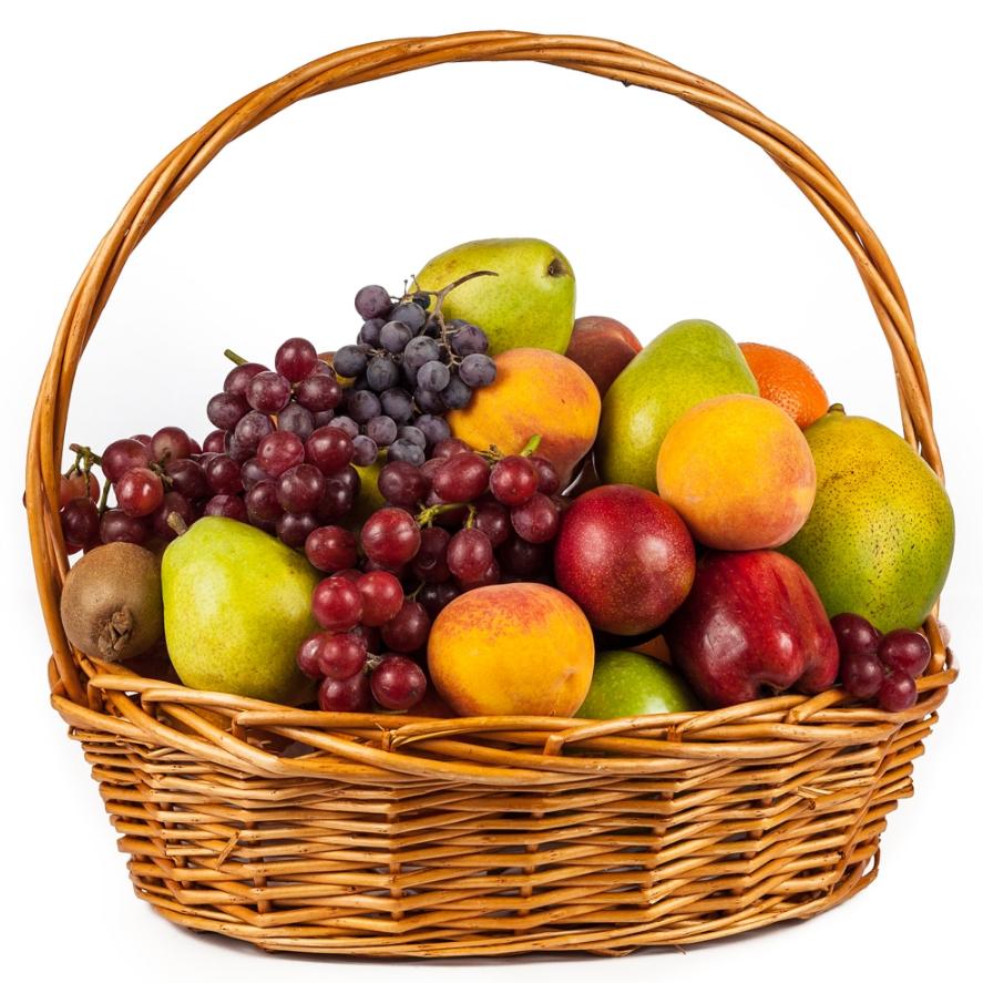Картинка корзинка с фруктами, красивые картинки
